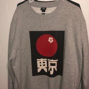 H&M Japanese print sweatshirt